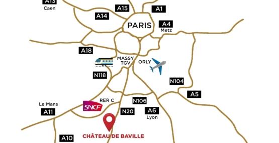 Plan château de Baville